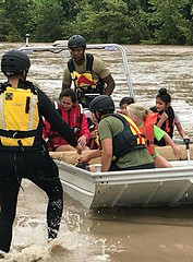 Del Rio Sector Border Patrol Agents Help Rescue Families Stranded by Flood Waters (CBP Photography) Tags: cbp customs border protection rescue boat river joint floodwaters