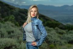 World View (Daniel Medley) Tags: yanacornercanyon blonde woman portrait pose outdoors off camera flash nikon d750 85mm18g draper utah