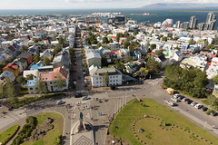 Reykjavik from the Hallgrimskirkja Church spire, Iceland (David May) Tags: iceland church cathedral spire capital city leifur eriiksson viewpoint magnificent nordic holiday