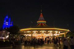 Castle and carousel (roboppy) Tags: japan tokyodisneyresort tokyodisneyland urayasu chiba fantasyland carousel castle cinderellacastle