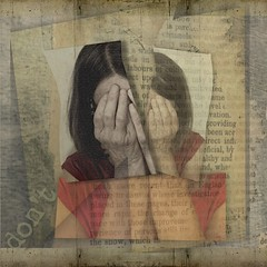 She wasn't sure about anything anymore (catcad) Tags: layers ipadpro procreate text texture mobiography selfportrait portrait