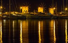 Night Mills (pbr53) Tags: rodos decentralizedadministrationof greece decentralizedadministrationoftheaegean grmandrakiharbour lighthouse