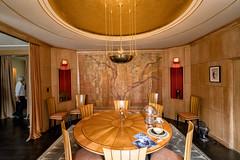 _DSC8161 Saarinen House Dining Room 2 (Charles Bonham) Tags: saarinenhouse cranbrookacademyofart bloomfieldhillsmi artsandcrafts 1930 diningroom architecture sonya7rll sonyzeissfe1635mmf4 charlesbonhamphotography wallhanging muriel