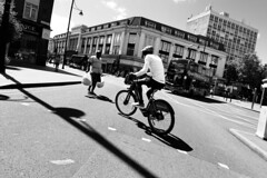 IMG_3321 (JetBlakInk) Tags: cyclist cycling bicycle boycycling bojobike cyclelane streetphotography streetscene mono transport santander brixton