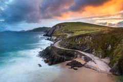 Com Dhíneol (explored) (Hibernia Landscapes (sjwallace9)) Tags: sleahead dingle sunset coomenoole dunquin beach ireland