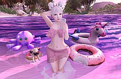 Floaties (Jayde Askari / Pink Kitten) Tags: moon hair catwa uma head bento swallow ears deetalez skin kyouko celtic aviglam charm eyes lagoon mooh floatie floaties octie pegicorn jian gacha pug pupper pool party delilah outfit db poses selfie cellphone magic pixie senz location blog second life sl virtual world avatar avatars