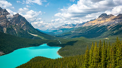 Peyto Lake (RyanKirschnerImages) Tags: peytolake banffnationalpark banff mountain lake nature landscape canadianrockies clouds