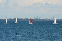800_4757 (Lox Pix) Tags: queensland qld australia catamaran trimaran hyc humpybongyachtclub winterbash loxpix foilingcatamaran foiling bramblebay sailing race regatta woodypoint boat