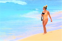 Photographer (thomasgorman1) Tags: camera photographer photography nikon woman beach sand water sea ocean shore island hawaii oahu makaha