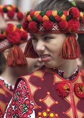 Ukrainian National Teaser (Zavarykin Sergey) Tags: ukraine lviv chorus zhayvir national anthem authentic suite girl red teasing funny cute portrait 85mm vivitar rokinon walimex samyang sonya7sm2 zavarykin szfilmmaker