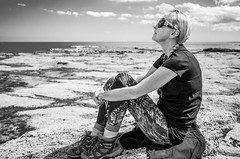 Relaxing in the sun (daveseargeant) Tags: seaside ravenscar whitby east yorkshire coast leica x typ 113 white black monochrome seals seal