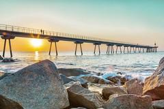 Sunrise (☼ Mrs ☼) Tags: sea rocks sunrise sun puente mediterráneo