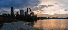 Sunset...     panoramagram    4293*1920 (wensheng68) Tags: panasonicgx7 jinwensheng waterscape wensheng68 water lake didang shaoxing 1240f28 1240 olympus sunset panorama panoramagram gx7