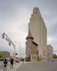 The Hughes Building (devb.) Tags: 4x5 largeformat chamonix045n2 90mm portra160 hughesbuilding passaic nj