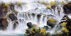 Thunderous, Art Painting / Oil Painting For Sale - Arteet™ (arteetgallery) Tags: arteet oil paintings canvas art artwork fine arts waterfall river water rock stream stone landscape cascade environment outdoor mountain creek fall travel flowing wild tree falls natural spring splash flow rocks summer waterfalls valley motion wet peaceful scenery tourism falling scenic outdoors fresh canyon tranquil wilderness ecology moss serene leaf clean national trees ravine stones landscapes impressionism mountains brown white watercolor