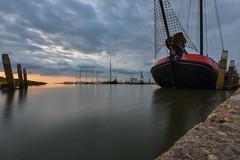 Busy harbour, Noordpolderzijl NL (powerfocusfotografie) Tags: ship harbour waddensea northsea le longexposure boat noordpolderzijl groningen holland summer evening dusk sunset henk nikond7200 powerfocusfotografie