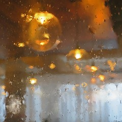 festive (Jim_ATL) Tags: cafe incandescent yellow ceiling lights old glass distortion abstract atlanta