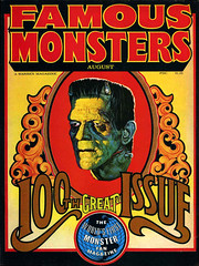 Famous Monsters of Filmland #100 (1973) (gameraboy) Tags: vintage famousmonsters cover magazine magazinecover famousmonstersoffilmland 100 frankenstein frankensteinsmonster 1973 1970s