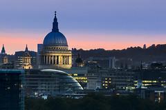 St Pauls Stripes (JH Images.co.uk) Tags: stpauls cat church dome illuminated illumination london night city hdr dri skyline pink blue sky cityhall