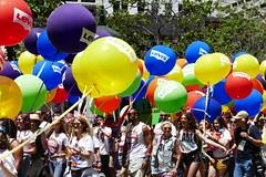 the 2018 san francisco pride parade, levi's contingent (nolehace) Tags: 2018 sanfrancisco pride parade 618 event lgbt lgbtq gay lesbian queer transgender bisexual summer nolehace fz1000 levis contingent balloon