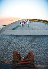 sunrise in paradise (jakobstitz) Tags: sunrise paradise paradies reell graal müritz graalmüritz nikon d5100 sonne sonnenaufgang sand meer ostsee baltic sea fischauge fisheye strand strandkorb deutschland sommer sky himmel