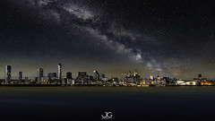 Liverpool at Night (jaygilmour11) Tags: liverpool merseyside wirral night stars milkyway dark city cityscape lights clouds blue nikon leefilters astro astrophotography yellow beautiful graphic composite photoshop