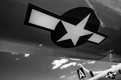 White Star (ISP Bruno Laplante) Tags: fifi boeing b29 super fortress old vintage plane war warbird bobmer wwii star wing silver sky clouds bw black white american