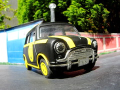 Mini Cooper 'Pull Back and Let Go' Diecast Toy By Kinsmart 1/24 Scale 1990s Styled To Look Like the Mini From The Nintendo 64 Game Twisted Metal 3 Club Kid Vehicle : Diorama Garage - 15 Of 45 (Kelvin64) Tags: mini cooper pull back let go diecast toy by kinsmart 124 scale 1990s styled to look like from the nintendo 64 game twisted metal 3 club kid vehicle diorama garage