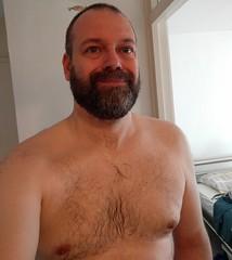 Wet Wednesday (EC1 Matt) Tags: gay bear beard wet hairy chest