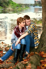 Quiet time (snoluvr1) Tags: couple love outdoors nature creeks water
