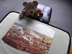 England 1, France 0 (pefkosmad) Tags: waddingtons scroll qualitex thebattleofwaterloo wheath vintage jigsaw puzzle hobby leisure pastime complete painting art secondhand used tedricstudmuffin teddy ted bear animal cute cuddly toy plush fluffy soft stuffed