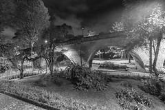 Puente El Humilladero (José M. Arboleda) Tags: monocromático blancoynegro puente elhumilladero arco empedrado ladrillo camino carretera calle salidadelsol amanecer nube cielo árbol arquitectura ciudad parque popayán colombia canon eos 5d markiv ef1635mmf4lisusm josémarboledac