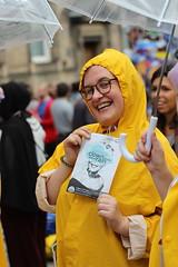 Woman In yellow (ego | studio and location photography) Tags: yellow umbrella raincoat woman people edinburghfringe