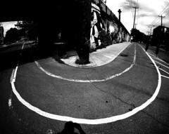 Point-Saint-Charles Curves 2 (MassiveKontent) Tags: streetphotography montreal bw contrast city monochrome urban blackandwhite photo montréal quebec photography bwphotography streetshot architecture asphalt concrete shadows noiretblanc blancoynegro geometric lines streetphoto