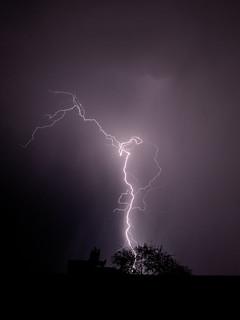 Lightning in Tucson on August 6 2018