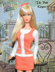 1967 Vintage Mod TNT Platinum Sunkissed Barbie Doll (The doll keeper) Tags: 1967 vintage mod whitney platinum blonde sunkissed barbie doll fashion avenue orange white knit dress