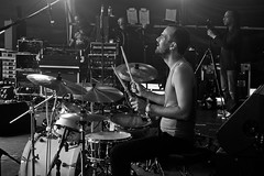 The Festival Drummer (The_Kevster) Tags: london crystalpalace festival southlondon crystalpalacefestival nikon dslr d3300 musician drummer stage drums sticks music band monochrome bw blackandwhite