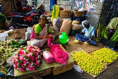 A Flower Vendor (ppaulvadivu) Tags: paulvadivu chennai koyembedumarket flowers vendor