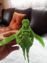 Hatsune Miku (GGIamBatman) Tags: origami papiroflexia miku hatsune verde green obelisk