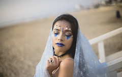 (kpangel93) Tags: laserena chile coquimbo portrait lovely emotions blue sea woman women skin chilean glitter mermaid sonya7 50mm 50mm14 smc pentax