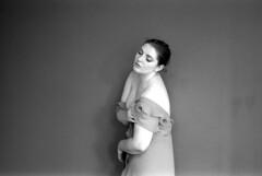 b a graceful maiden (Ian Allaway) Tags: graceful portrait analogue 35mm ilford fp4 nikonfm2