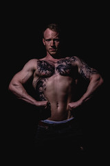 _BSC2448 (benni_schuetzenhofer) Tags: inked shredded shred tattoo tattooedup blackbackground abs sixpack huge muscle muscles big getbig fitness model athletic fit fitguy man male malemodel