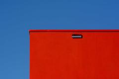 Red and blue geometry (Jan van der Wolf) Tags: map183117v red rood redrule sky gevel gebouw facade blue simple simpel minimalism minimalistic minimalisme minimal minimlistic geometric geometry geometrisch geometrie