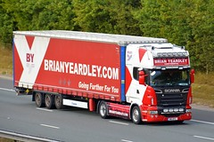 M16 BYC (panmanstan) Tags: scania r500 wagon truck lorry commercial curtainsider international freight transport haulage vehicle a1m fairburn yorkshire
