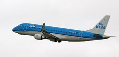 PH-EXO KLM EMBRAER ERJ-175 NEWCASTLE AIRPORT (toowoomba surfer) Tags: aeroplane airline airliner aviation aircraft ncl egnt jet