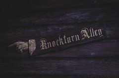 Universal Orlando - Knockturn Alley sign (Greg Larro Photography) Tags: diagonalley diagon alley london uk wizardingworld wizard witch jkrowling wb warnerbros warnerbrothers harrypotter fantasy themepark park attraction fun magic magical knockturnalley knockturn dark evil bad sign