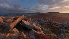 Over Owler Tor (Paul Newcombe) Tags: sunrise peakdistrict england landscape sidelight overowlertor derbyshire uk sky rocks gritstone nationalpark britnatparks august heather bloom outdoor hills