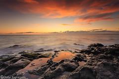 Sunset reflection (Ó.Guð) Tags: reflection sunset sólarlag sjór speglun snjór sunsetcolor sea óguð ogud olafurragnarsson ólafurragnarsson ocean sky ský rock klettar klappir hafnarfjörður hafnarfjordur pond sand