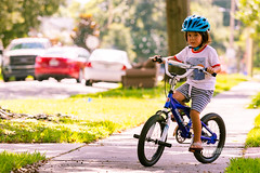 And he's off! (Roane Turner Photography) Tags: kalin outdoors bicycle helmet bike