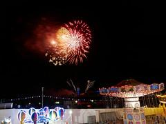 fireworks and funfair (auroradawn61) Tags: bournemouthseafront pier funfair fireworks bournemouth dorset uk england august 2018 summerfireworks afterdark night lumixgx80